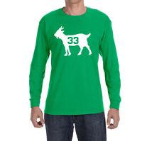 Boston Celtics Larry Bird Goat Long sleeve Shirt