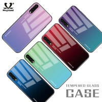 For Huawei Mate 20 P20 P30 Lite Pro Gradient Tempered GLASS BACK Slim Case Cover