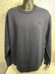 Champion Sweatshirt Fleece Men's Crewneck Powerblend Pullover Authentic Large