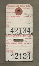 1900S CHICAGO  NORTH WESTERN RAILWAY CO  RAILROAD BAGGAGE LUGGAGE TAG
