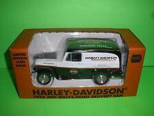 LIBERTY 1953 WILLYS JEEP PANEL TRUCK GARLAND TX Harley Davidson 1:25 NEW MINT