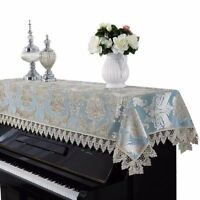 Minimal Life Piano Cover Upright Dusting Lace Cloth Piano Towel (Peacock Blue)