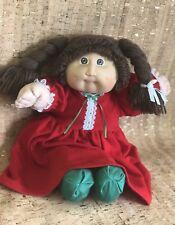 Cabbage Patch Kid Doll Girl Brown braids Eyes, Dimples Vintage! 1978-1982