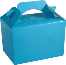 20 Baby Blue Party Boxes - Food Loot Lunch Cardboard Gift Wedding/Kids