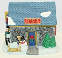 Vintage 1997 Dickens Collection Tables Frost's Ice House Ceramic Lighted Village