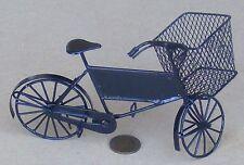 Entrega De Metal Negro Escala 1:12 Cesta de Bicicleta & Bicicleta De Casa De Muñecas Accesorio