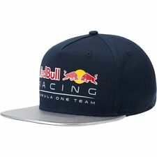Mens Puma Red Bull Formula 1 Snapback Cap Flat Brim Adjustable Baseball F1 Hat