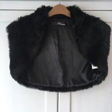 Jane Norman Black Faux Fur Shrug.  BNWOT. Size 10