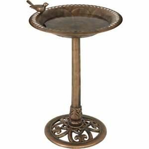 Best Garden Antique Bronze Decorative Pedestal Bird Bath B008-B  - 1 Each