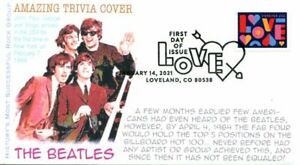 COVERSCAPE computer generated The Beatles trivia FDC