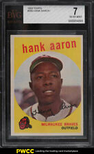 1959 Topps Hank Aaron #380 BVG 7 NRMT