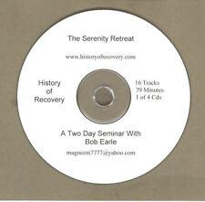 BOB EARLL SERENITY RETREAT 4 CDs Alcoholics Anonymous ACOA CODA ALANON