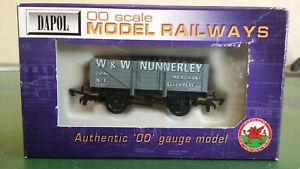 "Dapol OO gauge 5-plank open coal wagon in grey ""W & W Nunnerley"", Ellesmere"