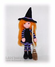 Crochet Witch With Broom Halloween Pattern PDF (read Description)