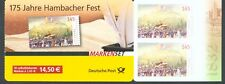 Germany 2007  175th Hambacher Fest  s/adhesive booklet of 10 sg.SB115 MNH