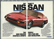 1985 NISSAN 300 ZX 2-page advertisement, large photo red sports car 300ZX ad