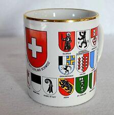 VTG Switzerland Coffee Tea Mug Cup Coat of Arms 27 Shield Swiss Cantons Bockling