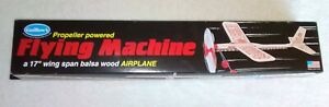 GUILLOW'S Rubber Band Powered Propeller #75 BALSA WOOD AIRPLANE. Unopened Box