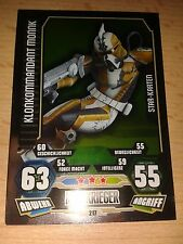 Force Attax Star Wars Serie 3 Star-Karte 217 Klonkommandant Monnk Sammelkarte