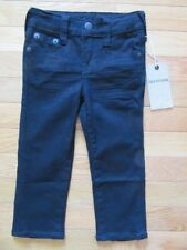 TRUE RELIGION BOYS BLACK SUPERFLY GENO JEANS, ADJ WAIST, TR735JN191, NWT, 2T