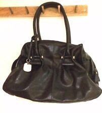 Betty Jackson Black Leather Shoulder Bag Handbag Vgc