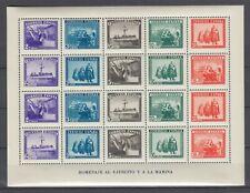 España 1938 Hoja Ejercito y la Marina  Ed.849 Nuevo sin charnela MNH Lujo.