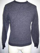 Womens Giasone Wool /Silk/Angora Blend Charcoal Crewneck Pullover Sweater sz Xl