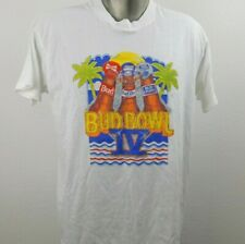 Screen Stars Bud Bowl Iv Vtg T Shirt Mens Xl White Bud Light Bud Dry Budweiser