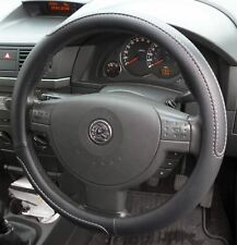 Black Steering Wheel Cover Soft Grip Leather Look for Vauxhall Meriva All Models