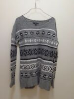American Eagle Outfitters Women's Sweater  gray  white black medium