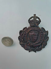 More details for beverley borough police helmet plate and uniform button.