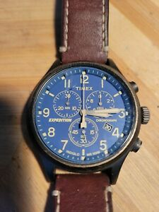 """Men's TIMEX """"Expedition"""" Chronograph Watch w/ Backlight & New Battery"""