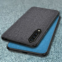 For Xiaomi Mi A3 A2 Lite A1 Shockproof Cloth Fabric Texture Soft TPU Hybrid Case