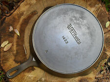 """Vintage Wardway No. 9 Cast Iron Skillet 1433 A, Large 11 3/8"""" Pan, Clean Useable"""