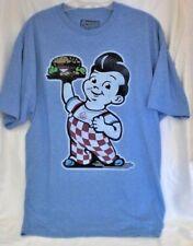 Bob's Big Boy HAMBURGER T shirt  Blue EXTRA-LARGE New