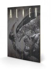 Aliens Holzdruck Head On Tail 40 x 60 cm NEU & OVP