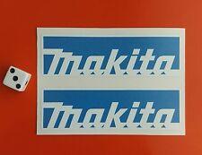 x 2 MAKITA STICKERS 100MM X 30MM TOOL BOXES,CARS,VANS.GARAGE.WORK