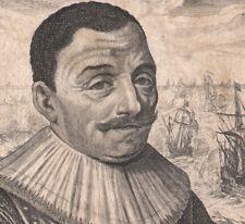 1640 gravure Maarten Harpertszoon Tromp Amiral de Hollande portrait Montcornet