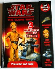 STAR WARS press out and build models  Clone Wars C3PO Jedi Fighter Battle Tank
