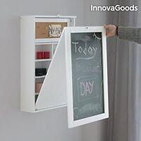 InnovaGoods Escritorio Plegable de Pared 80x50x18 cm Fabricado de madera vinilo