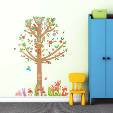 Decowall Animals Tree Nursery Kids Removable Wall Stickers Decal DM-1603