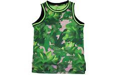 Nike Dri Fit Basketball Jersey - Green Pink Fatigue Print Tank Top Size Medium