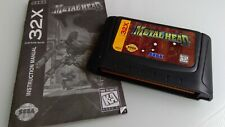 Metal Head (Sega 32X, 1995) Authentic Original Manual Tested Ships Fast