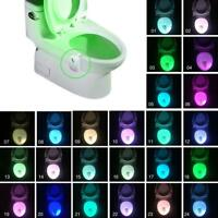 8/16/24 Colors Bathroom Seat LED Toilet Night Light Motion Activated Sensor Lamp