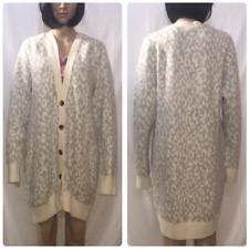 Victoria's Secret Leopard Print Sweater Cardigan Size Large Animal Print
