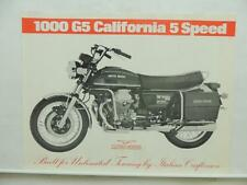 Moto Guzzi 1000 G5 California 5 Speed Motorcycle Brochure Specifications L9559