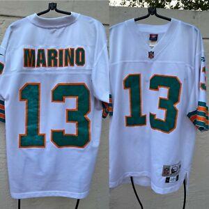 DAN MARINO #13 MIAMI DOLPHINS NFL REEBOK THROWBACKS 1984 SEWN ON JERSEY SZ M