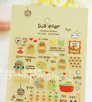Cute Kawaii Potato Bear Novelty Sticker Scrapbook card DIY gift Kid