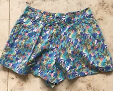 Vintage Topshop Macaw And Jungle Print Cotton Shorts  Size 8