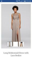David's Bridal bridesmaid dress, Size 12, Biscotti in color